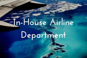 in-house airline department