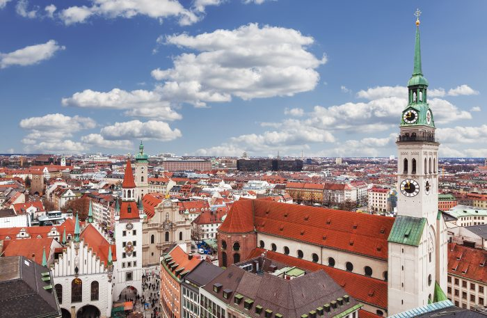 Munich, Germany, Bavaria, view from the top