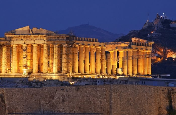 Parthenon at Acropolis of Athens. Greece