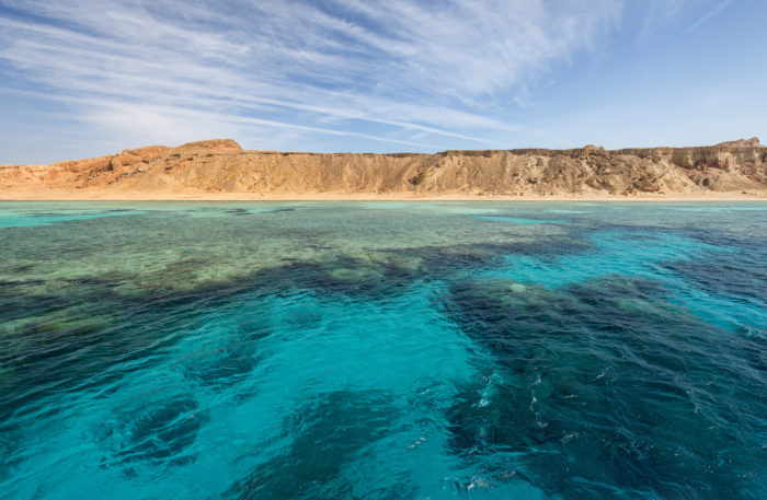 emerald water of sea in Egypt